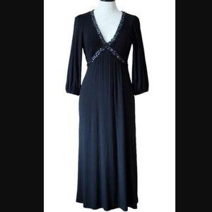 Boden   Black Embellished Sequin Detail Dress